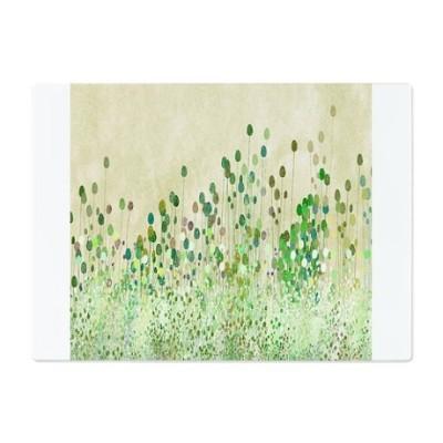 Vintage green floral art cutting board
