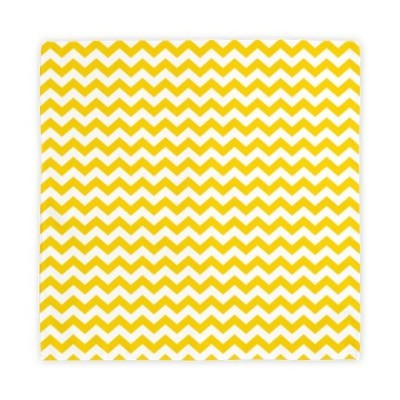 Yellow chevrons zigzag cloth napkins
