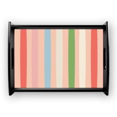 Luscious stripes coffee tray