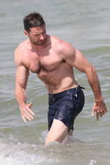 Hugh Jackman takes a dip in St. Tropez, France