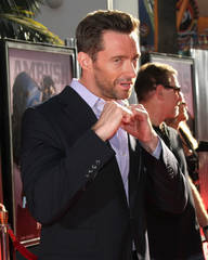 "Hugh Jackman at the Los Angeles premiere of ""Real Steel"""
