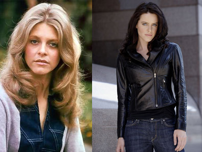 Lindsay Wagner & Michelle Ryan as Jaime Sommers in The Bionic Woman