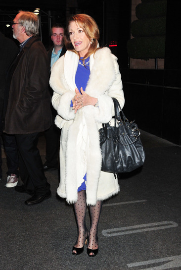 Jane Seymour leaving her midtown Manhattan hotel