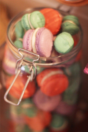 Jar full of macarons