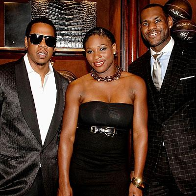 Jay-Z, Serena Williams and LeBron James