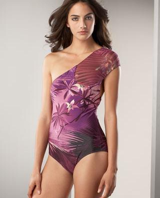 Jean Paul Gaultier One Shoulder Swimsuit