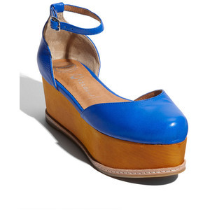 Give any outfit a 1970s vibe and lots of height with these vibrant Jeffrey Campbell sandals, available at Nordstrom.
