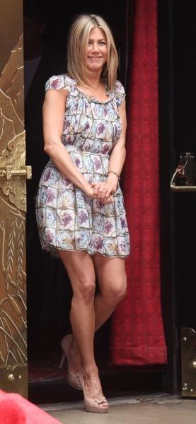 Jennifer Aniston in a peasant dress