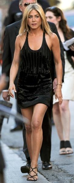 Jennifer Aniston in stripes
