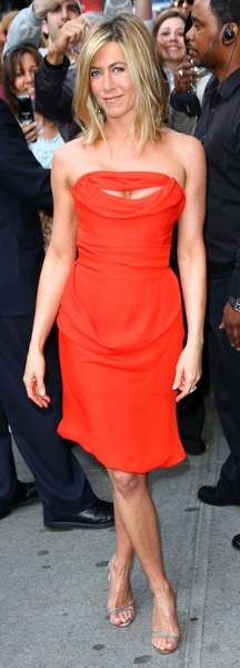 Jennifer Aniston in red
