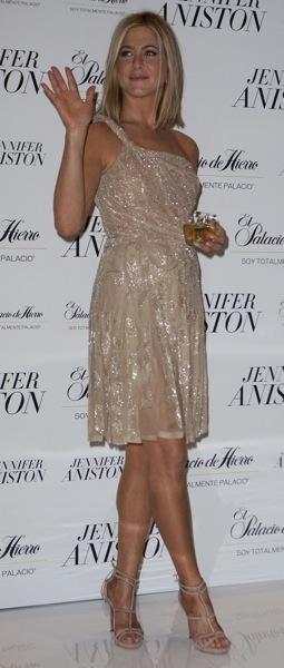 Jennifer Aniston in a jeweled dress