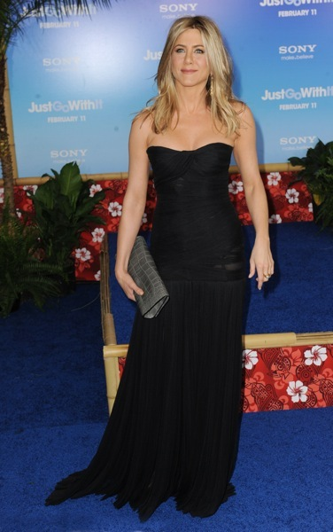 Jennifer Aniston in a drop waist dress