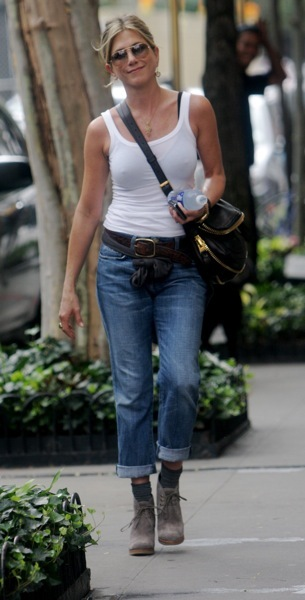 Jennifer Aniston in desert boots