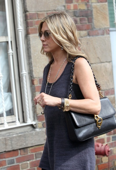 Jennifer Aniston in a tuni