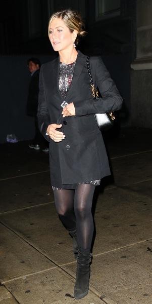 Jennifer Aniston in booties