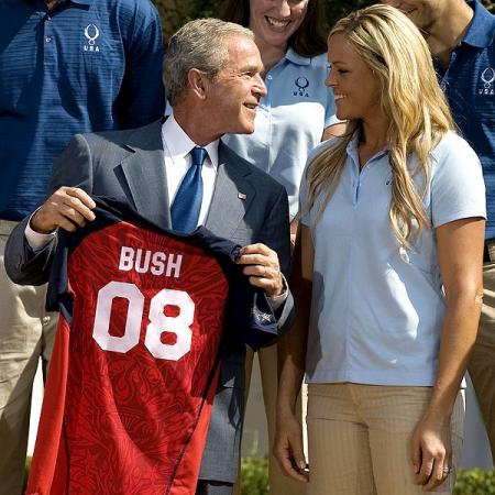 President George W. Bush and Jennie Finch