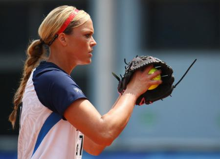Jennie Finch at the Beijing 2008 Olympics