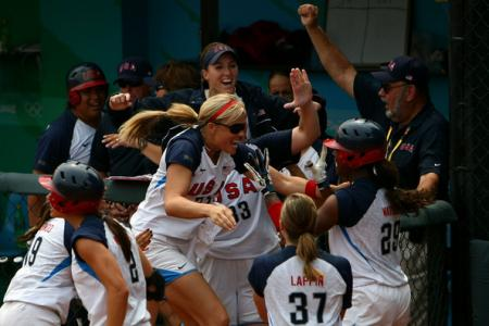 Jennie Finch Celebrates