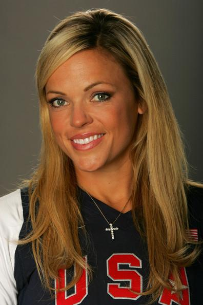 Jennie Finch Poses for a Portrait