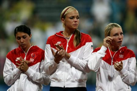 Jennie Finch Receives Silver Medal in Beijing
