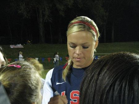 Jennie Finch Signing Autographs