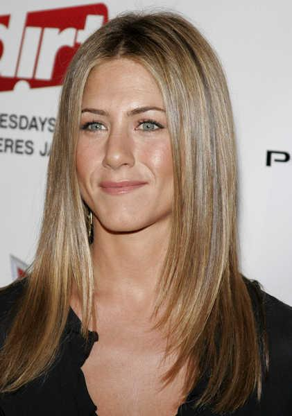 jennifer aniston long straight hair. Jennifer Anniston Straight and