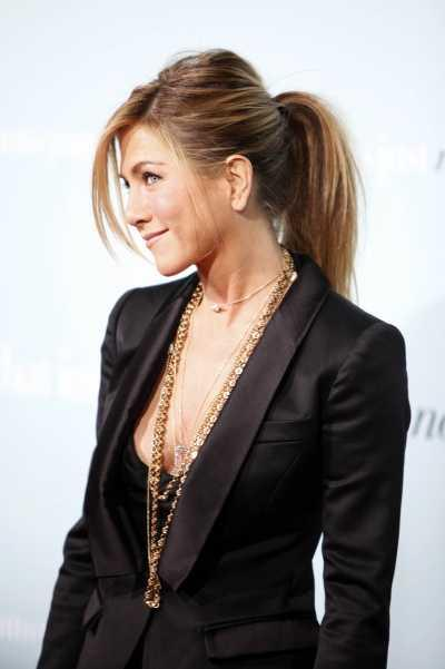 Jennifer Aniston's Ponytail with Bouuffant