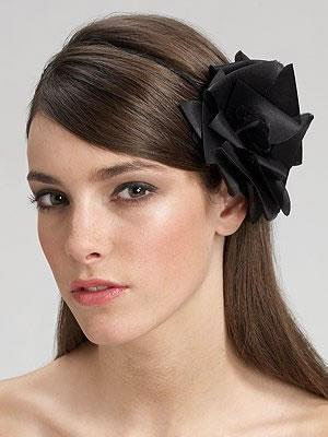 Jennifer Behr Pleated Rose Headband