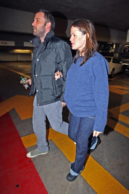 Jennifer Garner and Ben Affleck visit the hospital