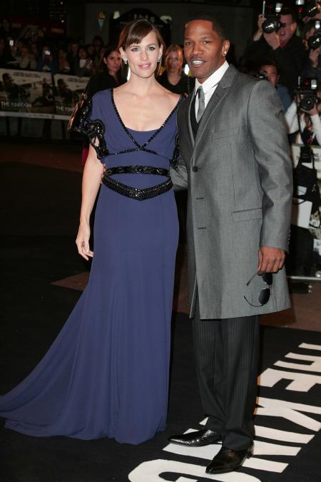 Jennifer Garner and Jamie Foxx at the UK premiere of The Kingdom