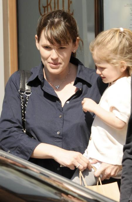 Jennifer Garner and Violet Affleck in Westwood