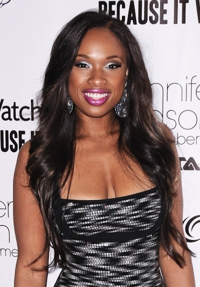 Jennifer Hudson's extra long hairstyle