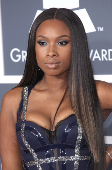 Jennifer Hudson's sleek, straight hairstyle