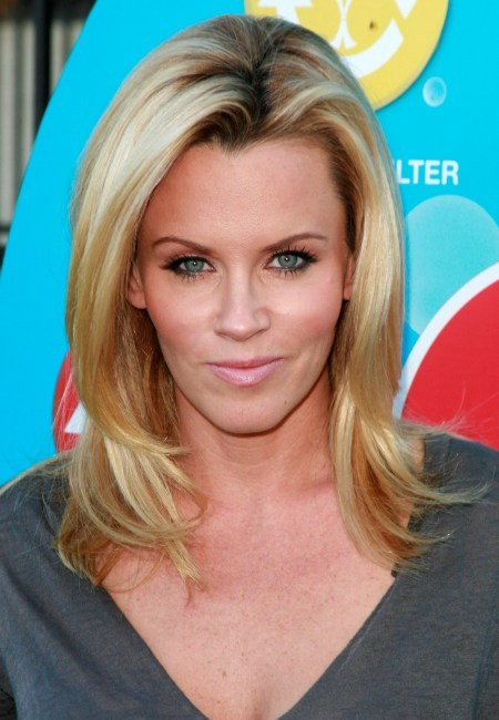 Jenny McCarthy's long, layered hairstyle