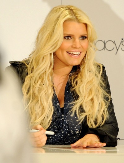 Jessica Simpson signs autographs