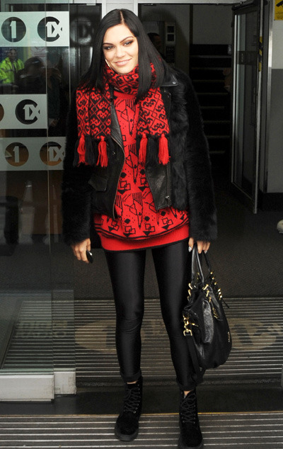 Jessie J leaves the BBC Radio 1 studios in London