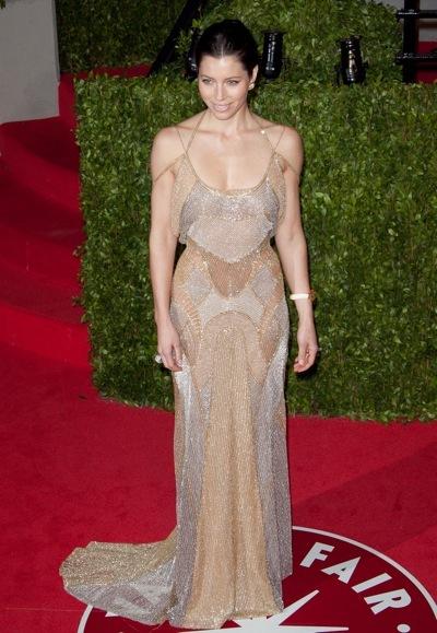 Jessica Biel in a gown