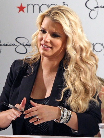 Jessica Simpson with beach curls