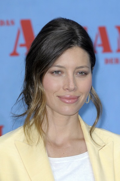 Jessica Biel with ombre hair