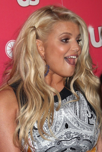 Jessica Simpson long wavy hairstyle