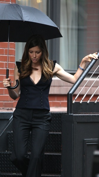 Jessica Biel's double breasted vest