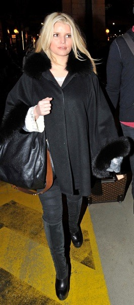Jessica Simpson's cold weather style