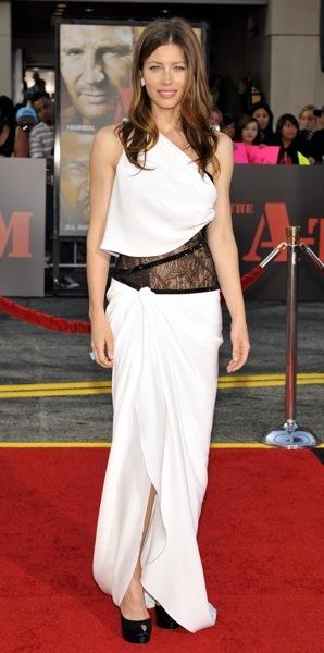 Jessica Biel in a dress