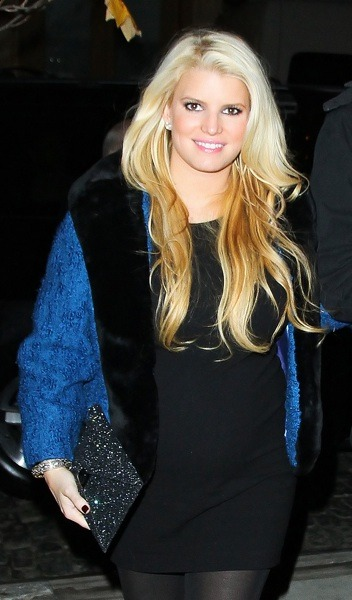 Jessica Simpson with ombre haircolor