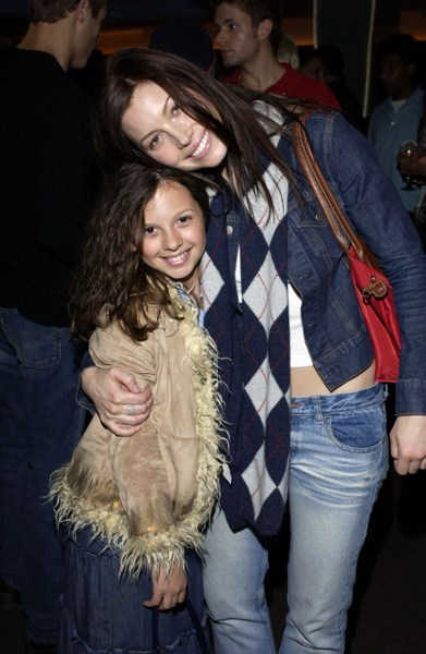 Jessica Beil with her on-camera little sister from <em>7th Heaven</em>