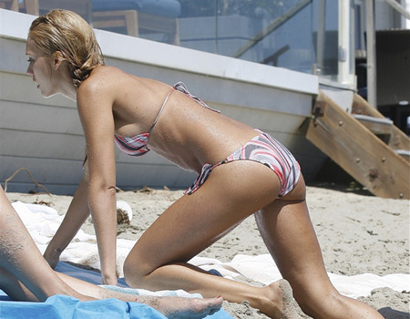 Jessica Alba's defined, toned bum. But (no pun intended), we already knew that.