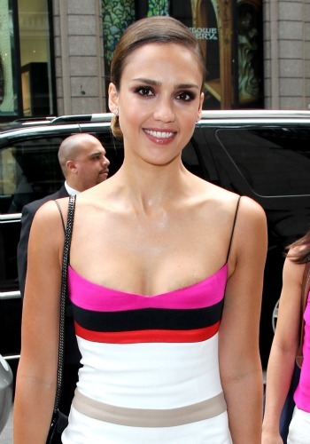 Jessica Alba at Barneys
