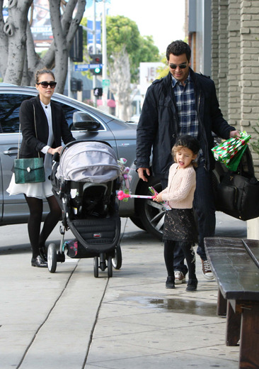 Jessica Alba out and about with her family in Beverly Hills