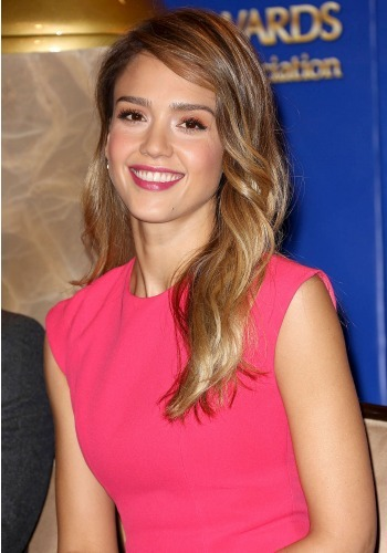 Jessica Alba at the Golden Globe nominations