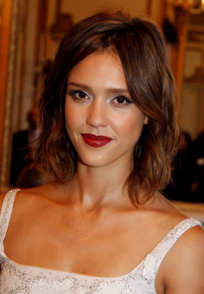 Jessica Alba's Fashion Week hairstyles